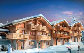 Penthouses for sale in French Alps. Penthouse with a balcony, in a new residence, close to the center of the ski resort, Samoëns, Alpes, France
