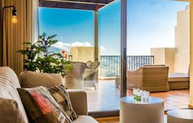 Penthouses for sale in Mijas. New penthouse with sea and mountain views in a residence with a pool, a gym, a garden and a parking, close to the beach, Malaga, Spain