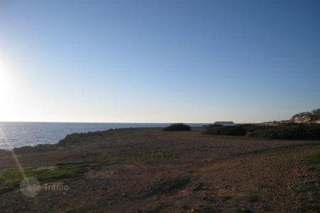 Coastal land for sale in Paphos. Exclusive Beachfront Plot, Tourist Zone — Sea Caves