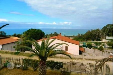 3 bedroom houses by the sea for sale in Sicily. Two-level villa with a large territory at 300 m from the beach in Alcamo Marina, Sicily, Italy