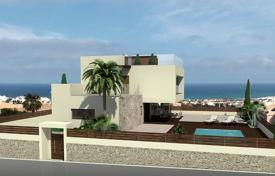 3 bedroom houses for sale in Alicante. Villa with a sea view, a plot and a swimming pool, Aguas Nuevas, Spain