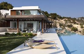 Residential to rent in Es Cubells. Elite villa with sea views and a swimming pool, near the beach, Es Cubells, Ibiza, Spain