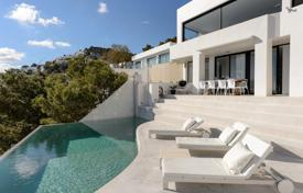 Coastal property for rent in Ibiza. Exclusive villa overlooking the sea and the island of Formentera, Roca Llisa, Ibiza, Spain