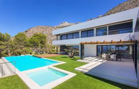 Luxury villas and houses with pools for sale in Costa Blanca. Two-level villa overlooking the sea in Altea, Costa Blanca, Spain