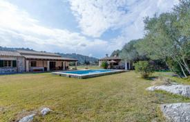 3 bedroom houses for sale in Majorca (Mallorca). Stone villa with a garden, a pool and porches, Pollença, Spain