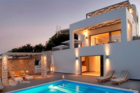 6 bedroom houses for sale in Peloponnese. New villa with a panoramic sea view, Sofiko, Peloponnese, Greece. Furnished house in minimalist style, at 100 meters from the beach