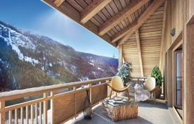 3 bedroom apartments for sale in Auvergne-Rhône-Alpes. Penthouse with a balcony, in a new residence, in a popular ski resort, 150 meters from the cable car, Isère, France
