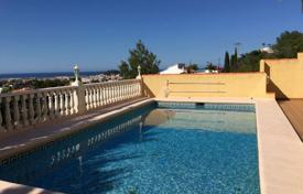 Houses with pools for sale in Valencia. Sea view villa with terrace and swimming pool, in Denia, Alicante, Spain