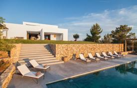 Luxury 6 bedroom villas and houses to rent in Spain. Designer seaview villa surrounded by pine woods, on a huge plot with an infinity pool, San Miguel, Ibiza, Spain