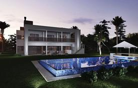 Off-plan houses with pools for sale in Southern Europe. Modern designer villa with a private pool, a garden and a parking, Mijas, Spain