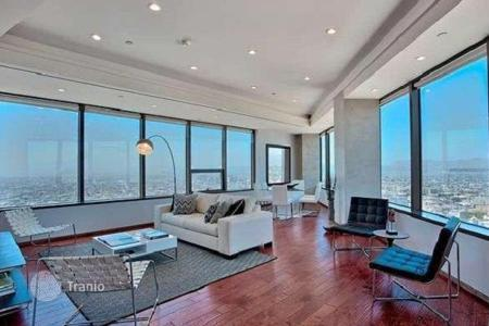 Luxury residential for sale in North America. Modern apartment with panoramic city view in condominium, Los Angeles, USA