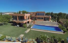 Houses with pools for sale in Faro. Modern style villa with a pool, a garden and panoramic ocean views, Vilamoura, Portugal