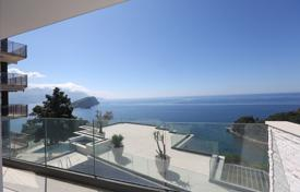 New villa with a swimming pool, a parking, terraces and sea views, Budva, Montenegro for 1,100,000 €