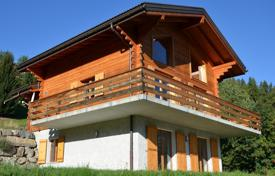 Chalets for sale in Alps. Comfortable chalet with balconies and a large terrace, in a quiet village, overlooking the mountains, Ridd, Switzerland