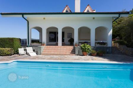 Houses with pools for sale in Basque Country. Spacious villa with terraces and a swimming pool, Plentzia, Spain