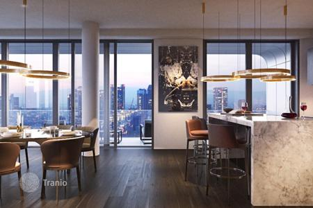 Condos for sale in Europe. Three-bedroom apartment in a new skyscraper in Frankfurt, European Quarter, Gallus district