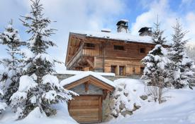Luxury chalets for sale in Alps. Comfortable chalet with a sauna and mountain views, next to the ski slope, Megeve, Alpes, France