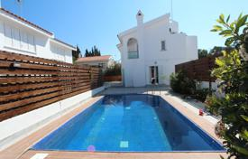 Houses with pools for sale in Ayia Napa. Furnished seaview cottage in Mediterranean style, on a fenced plot with a swimming pool and a sauna, Cape Greco, Ayia Napa