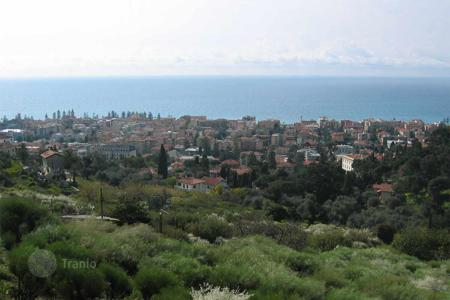 Off-plan houses for sale in Italy. Plot with amazing sea view in Bordighera. Also finished villa project