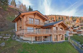 Luxury chalets for sale in Alps. Chalet, next to the ski slopes of Verbier and the ski lift, overlooking the Rhone Valley and the Alpes of Bernauz, Riddes, Switzerland