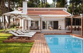 Luxury 5 bedroom houses for sale in Administration of Macedonia and Thrace. Three-storey villa with a swimming pool and a picturesque sea view, surrounded by pine forest, Kassandra, Chalkidiki, Greece