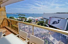 Coastal apartments for sale in Côte d'Azur (French Riviera). Seaview apartment with a terrace in a prestigious district, in front of the Palais des Festival, Cannes, France. High rental potential!