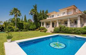 Luxury houses for sale in Estepona. Three-level villa in Mediterranean style in Estepona, Andalusia, Spain
