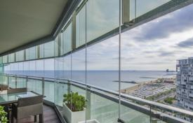 Luxury apartments with pools for sale in Barcelona. Designer apartment in Barcelona, Spain. Flat with a large terrace, in a beachfront residence with a garden and a swimming pool, Barcelona