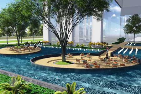 Cheap residential for sale in Southeast Asia. New apartments in a high-rise residential complex with a large commercial area, a pool and a playground, district 2, Ho Chi Minh, Vietnam