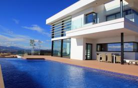 Luxury villas and houses with pools for sale in Costa Blanca. Designer Art Nouveau villa overlooking the sea and mountains in Moraira, Alicante, Spain