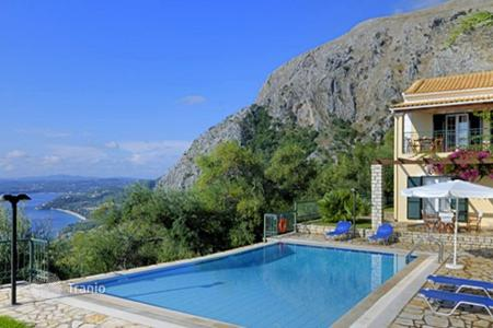 Houses with pools for sale in Corfu. Comfortable villa overlooking the sea on the north-east Corfu