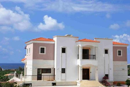 Luxury residential for sale in Paphos. 5-bedroom, 5-bath luxury villa with title deeds at Sea Caves 400 m from the beach