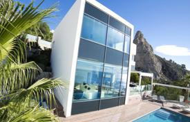 5 bedroom houses for sale in Calpe. Spacious villa with large windows, a pool, a jacuzzi and a garden, Calpe, Spain