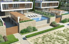 Luxury houses with pools for sale in Famagusta. Beach villa with terraces, a garden and a pool in a new beachfront residence with a marina, a fitness center and a spa, Ayia Napa, Cyprus