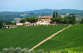 Vineyards for sale in Italy. Winery with historic villa in Tuscany, Italy