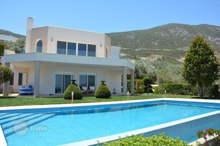 Coastal residential for sale in Epidavros. Sea view villa with garden, swimming pool and barbecue, in Peloponnese, Greece