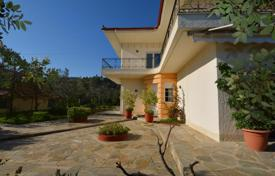 4 bedroom houses by the sea for sale in Epidavros. Furnished villa with a fireplace, a garden and a panoramic sea view, in a guarded residential complex, near the beach, Epidaurus, Greece