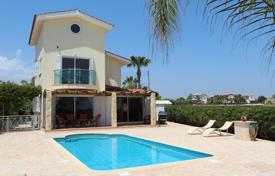 Houses with pools for sale in Ayia Napa. Three-storey seaview cottage on a plot with a pool, a landscaped garden and a large pergola, near a beach, Ayia Thekla, Famagusta