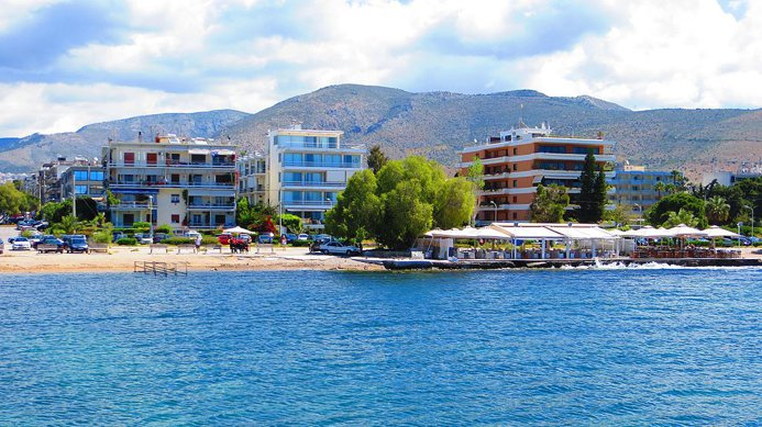 Glyfada is a southern suburb of Athens popular with affluent locals. Its beach boasts a Blue Flag