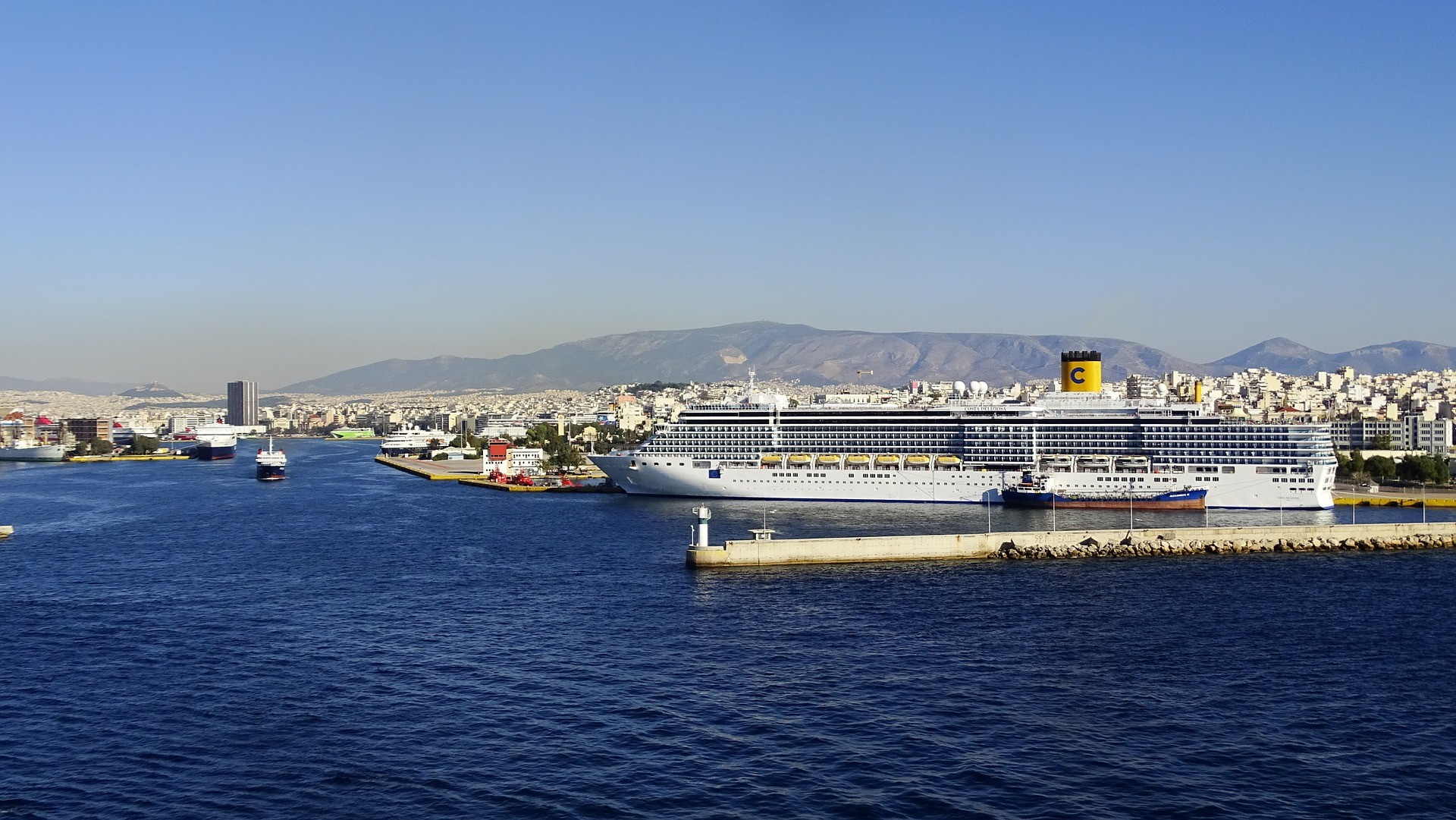 Greece. Piraeus is the largest passenger port in Europe